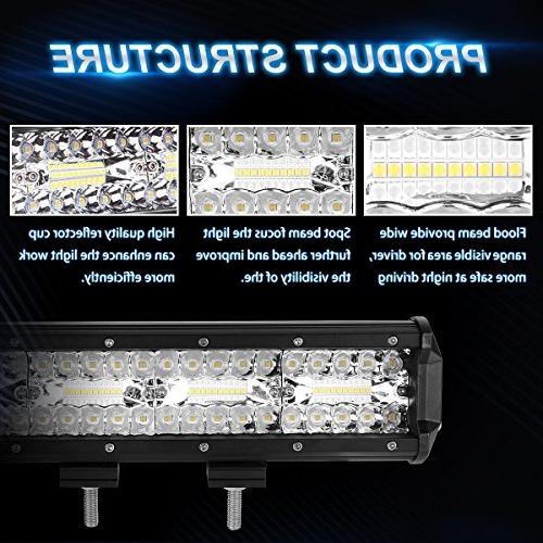 LED Light Bar, Tri 120W Spot Lights Driving Lights Light, For Jeep Slideable Year Warranty