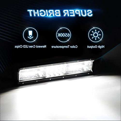 LED Tri Row 120W Flood Spot Beam Lights Lights SUV With Slideable Mounting Year Warranty