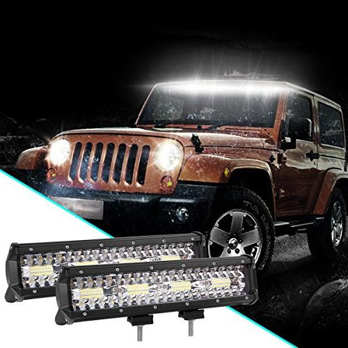 LED Rigidhorse Tri Row 120W Spot Fog Lights Driving Lights Work SUV Trucks Slideable Mounting Year Warranty