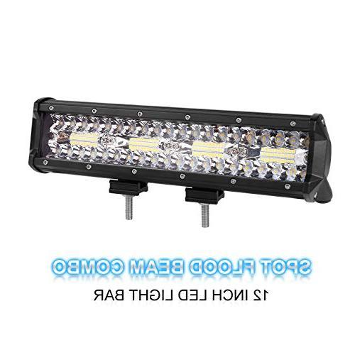 led light bar tri row 12 inch