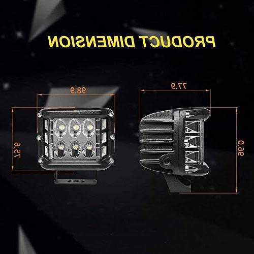 LED 2pcs Inch LED Beam Lights Lights LED Work for ATV Jeep boat, 1 Year Warranty