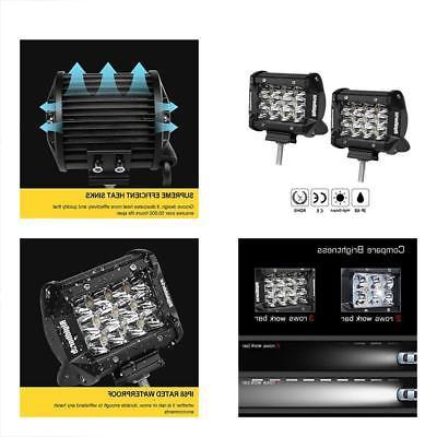 led light pods triple row 2 pcs