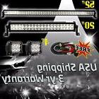 """52Inch 50"""" LED Light Bar Combo + 20in +4"""" CREE PODS OFFROAD"""