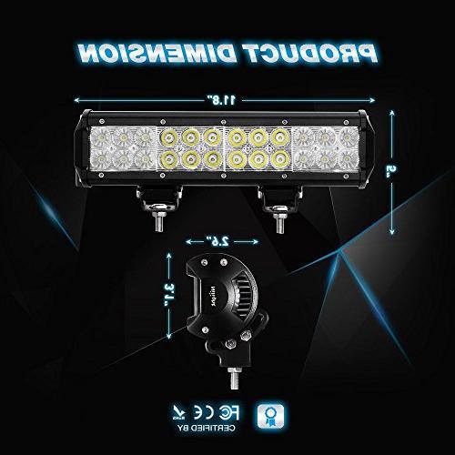 Nilight LED Flood Combo Beam Bar Off Fog 4x4
