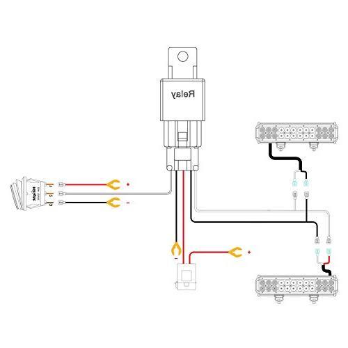 Nilight Light Wiring Kit 12V On Off Relay Off Road LED Work Warranty