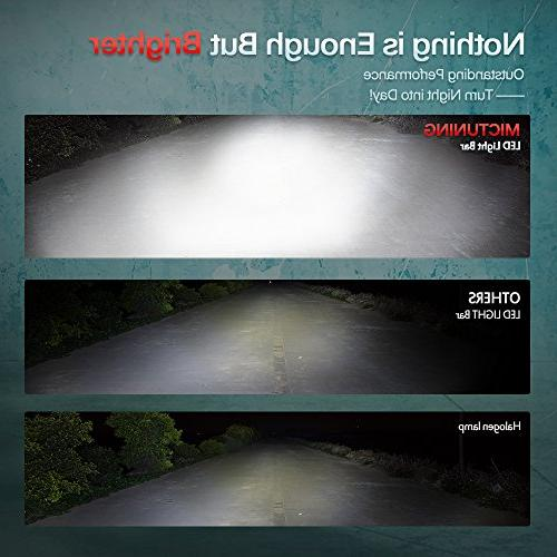 "MICTUNING White MIC-5DP50, Series 11"" Lights Combo Spot/Flood 4x4 Off Road Polaris ATV UTV Car Truck"