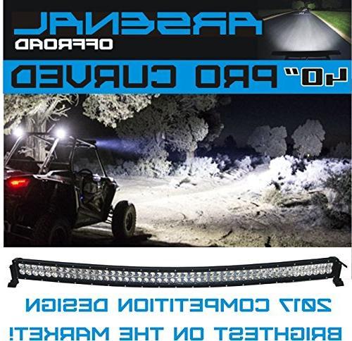 No.1 inch Curved 228 Pro CREE LED Design beam, Offroad Trucks 4x4 radius Dodge Free Light Switch