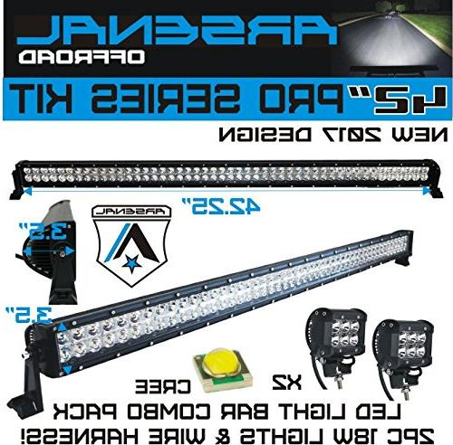No.1 Series 240W Bar & 18W Work by Arsenal Offroad combo beam 24,000LM Offroad UTV BAR SWITCH KIT 18W WIRE