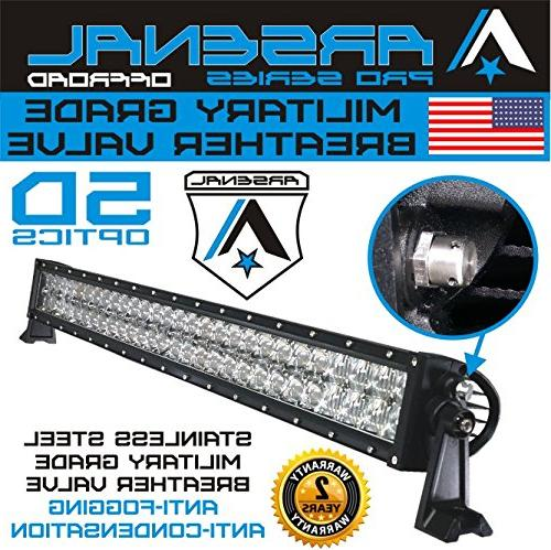 No.1 Pro Optics LED Light Bar 2018 180w 5D=310w Polaris UTV FREE Switch Harness