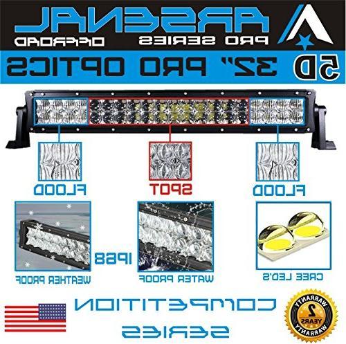 No.1 Pro Optics Light 2018 Design Flood/Spot Combo Beam CREE 3w LED's 180w RZR UTV Raptor FREE LED Switch Kit