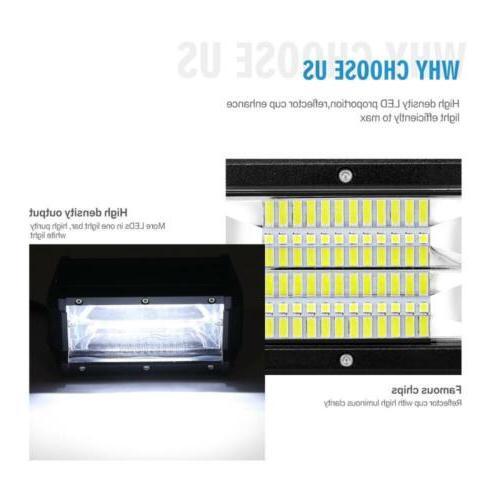 PAIR LED Bar FLOOD Beam Truck SUV 4X4WD