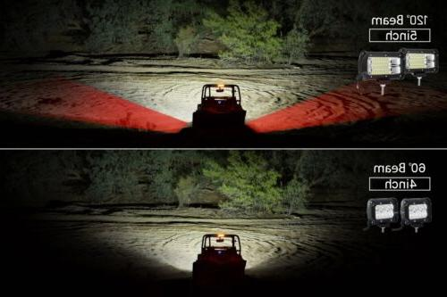 PAIR CREE LED Work Light FLOOD Offroad Truck