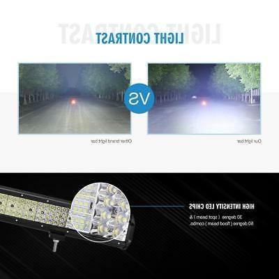 "QUAD 2256W LED BAR FLOOD OFFROAD SUV 22"" 20"""