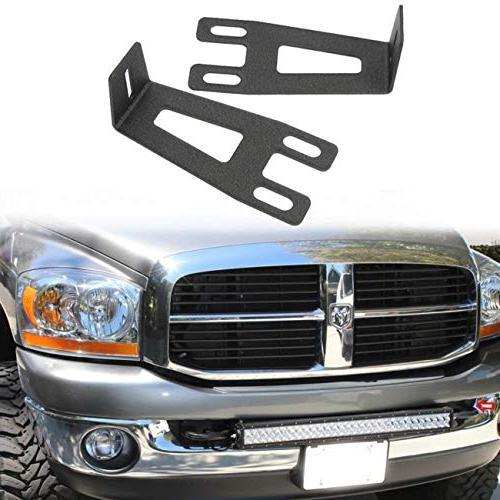 ram light bar mount front bumper hidden