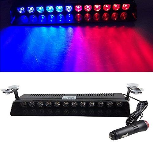 red blue emergency strobe lights flash vehicle
