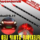 "2x Red 12"" DIY Flexible LED Light Strip Bar for Car Motor Ma"