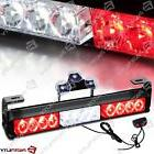 14 in LED Red White Light Emergency Warning Strobe Flashing