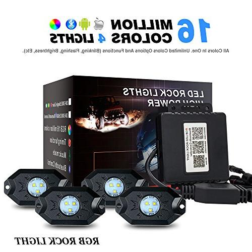 rgb led rock lights with bluetooth controller