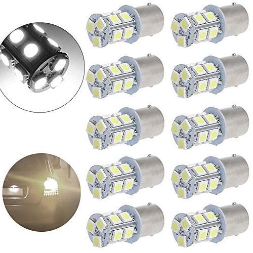 10PCS/set Reversing Light 1156 13 SMD RV Camper Interior 1141 White Light