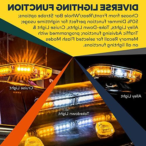 LAMPHUS 98W Vehicle LED Full-Size Amber Rooftop Light