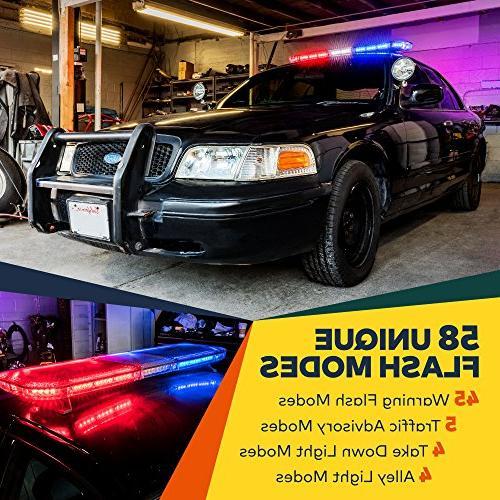 "LAMPHUS SolarBlast 47"" 98W Vehicle Full-Size Rooftop Warning"