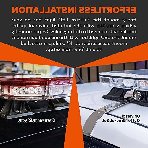 """LAMPHUS SolarBlast 47"""" 98W Emergency Vehicle Full-Size Amber"""