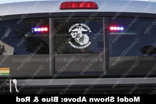 LAMPHUS SolarBlast SBLH04 LED Strobe Flashing Warning Lights & Firefighter Emergency Vehicles - Red/White