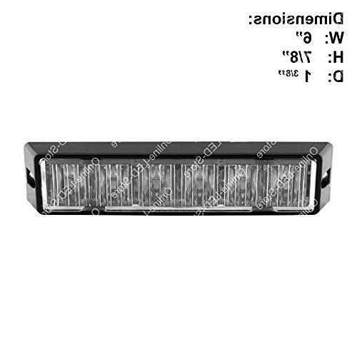LAMPHUS SolarBlast Strobe Grille Flashing Warning Lights & Firefighter - Amber/White
