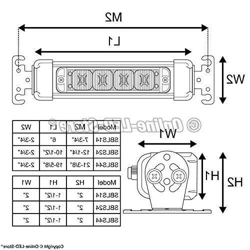 LAMPHUS SolarBlast SBLS14 4W LED Emergency Warning Lightbar -