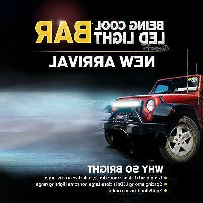 "Tri-Row 20"" Led Work Combo Offroad Truck UTE ATV"