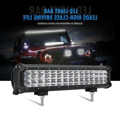 TRIPLE ROW 15INCH CREE LED LIGHT BAR DRIVING TRUCK