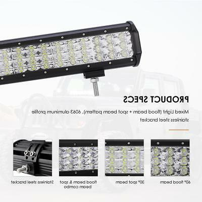 TRIPLE CREE LED LIGHT BAR SPOT FLOOD COMBO DRIVING TRUCK