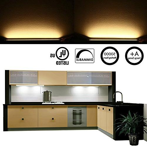 AIBOO Dimmable Under Cabinet Lighting LED Kit Switch