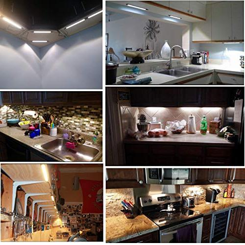 AIBOO Dimmable LED Cabinet Counter Kit with Switch Kitchen,Showcase,Shelf Lighting