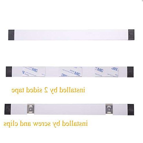 AIBOO Dimmable Cabinet Lighting Counter LED Bar Kit Rocker Switch Kitchen,Showcase,Shelf