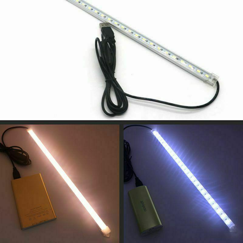 USB 35CM 7W SMD Strip Hard Bar Light On/Off Lamp 5V