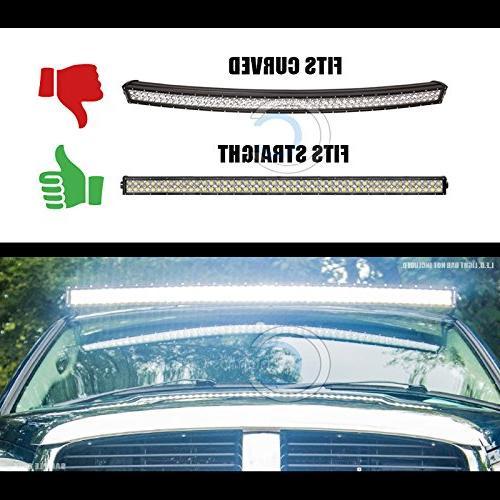 """Velocity Black Pillar Mount Bracket For 52"""" Light 02-09 Dodge Ram"""