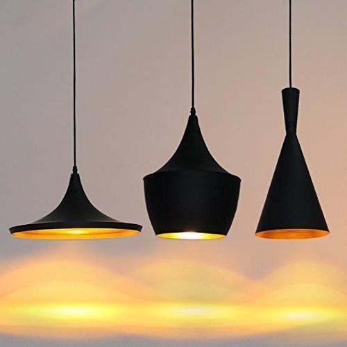 Vintage Metal Ceiling Light LED Industrial Pendant Lighting Black