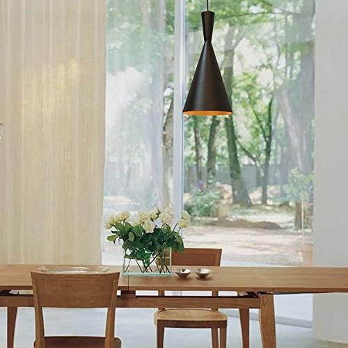 Vintage LED Industrial Pendant Hanging Lighting Black Lamp