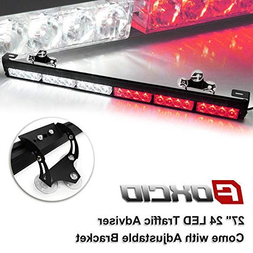 white and red 24 led 7 modes