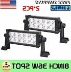 2x 8INCH 36W LED WORK LIGHT BAR SPOT BEAM DRIVING OFFROAD LA
