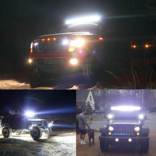 Nilight 252W Work Bar Flood Driving for SUV UTE ATV Truck Boat,2 Warranty