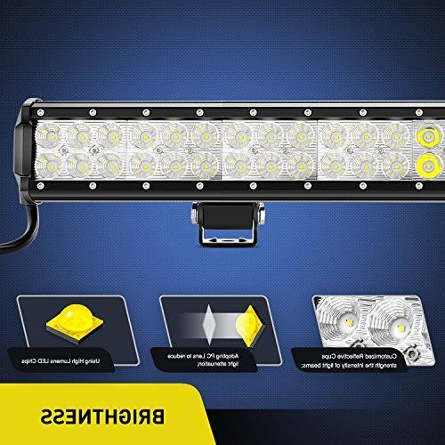 Nilight 39Inch 252W Work Light Bar Flood Light Driving for SUV UTE Truck 4x4 Boat,2 Years Warranty