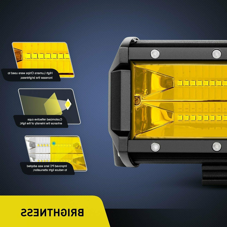 NILIGHT Yellow LED Light Lights Fog Driving