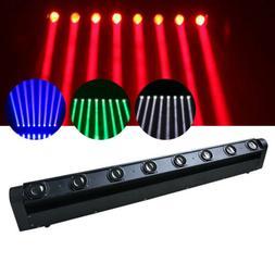LED 8 Scan Light Stage Lighting Head Moving Beam Bar 4in1 DM