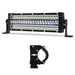 LED Light Bar Autofeel 12 Inch 5-Row Flood Spot Combo Beam 9