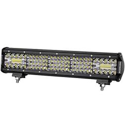LED Light Bar 15 Inch, OFFROADTOWN 224W Quad Row LED Driving
