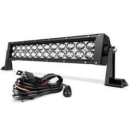 LED Light Bar AUTOSAVER88 16 Inch LED Work Light 4D 144W wit