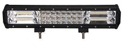 LED Light Bar, Bangbangche 19inch 216W Triple Row Flood Spot