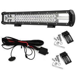 LED Light Bar 19inch Work Light 270W with 10ft Wiring Harnes